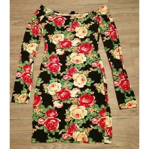 Forever 21 | Floral bodycon mini dress